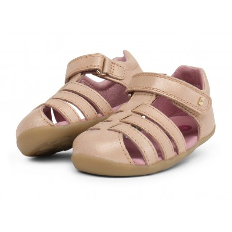 Sandale copii Jump din piele naturala bej