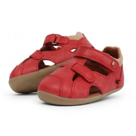 Sandale copii rosu Chase din piele naturala