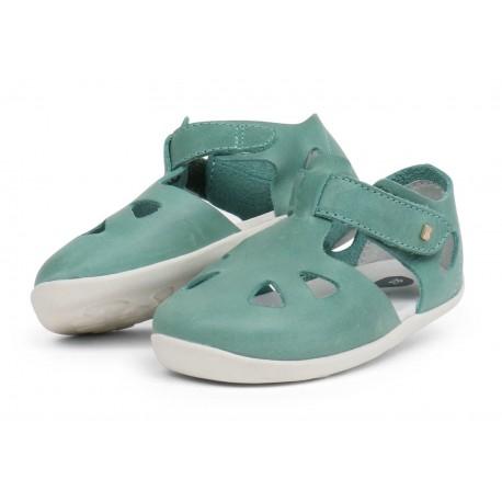 Sandale copii Zap din piele naturala verde
