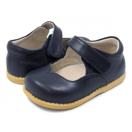 Pantofi fete Astrid din piele naturala bleumarin