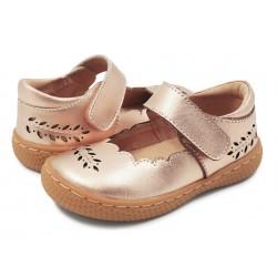 Pantofi fete auriu Juniper din piele naturala