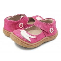 Pantofi fete Pio Pio din piele naturala fucsia sclipici