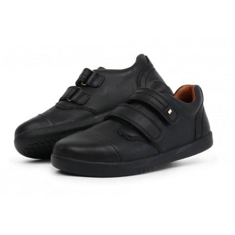 Pantofi baieti sport Portal din piele naturala neagra