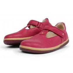 Pantofi fete Louise Kid din piele naturala roz