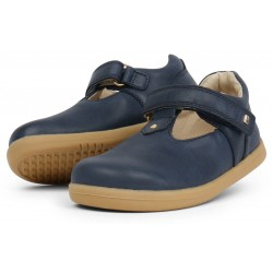 Pantofi fete Louise din piele naturala bleumarin