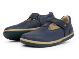 Pantofi fete Louise Kid din piele naturala bleumarin
