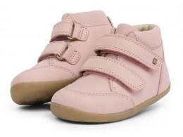 Ghete fete Timber StepUp din piele naturala roz