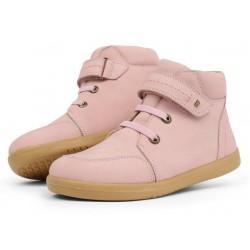 Ghete fete Timber Kid din piele naturala roz