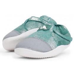 Pantofi fete Origin din piele naturală verde aqcua