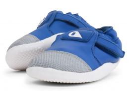 Pantofi băieți Origin din piele naturală albastru smarald