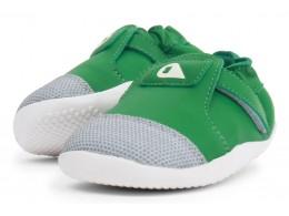 Pantofi copii Origin din piele naturală verde smarald