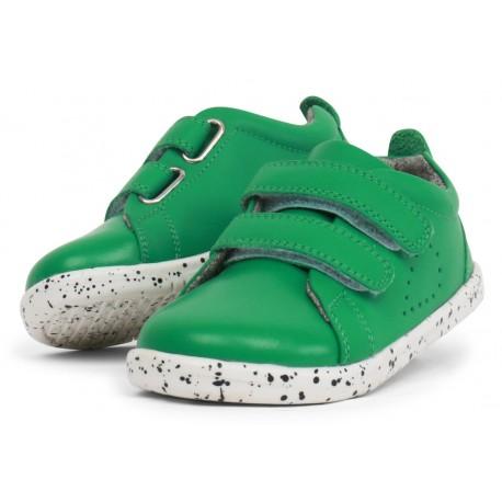 Pantofi sport copii Grass Court din piele naturală verde smarald