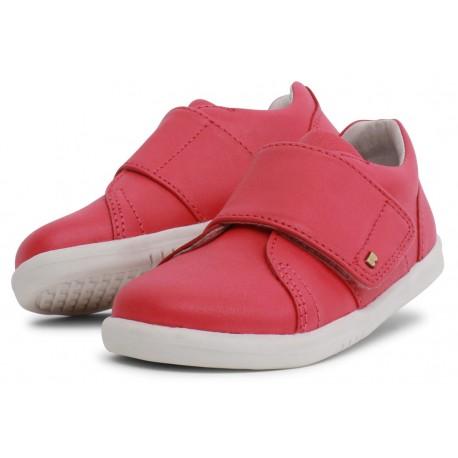 Pantofi sport copii Boston din piele naturală roșie