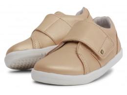 Pantofi sport fete Boston din piele naturală aurie