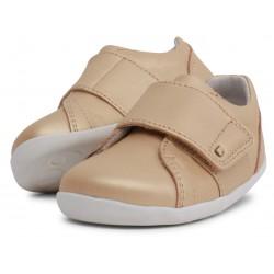 Pantofi sport fete Boston StepUp din piele naturală aurie