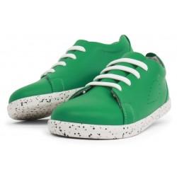 Pantofi sport copii Grass Court Kid+ din piele naturală verde smarald