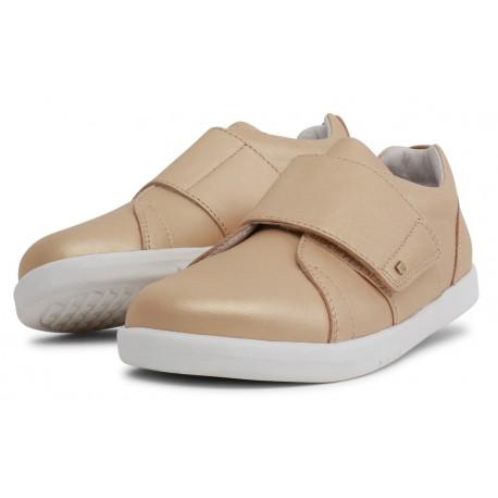 Pantofi sport copii Boston Kid+ din piele naturală aurie