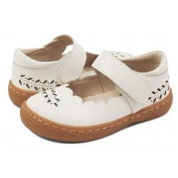 Pantofi fete Juniper din piele naturală albă