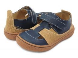 Pantofi băieți Captain din piele naturală bleumarin