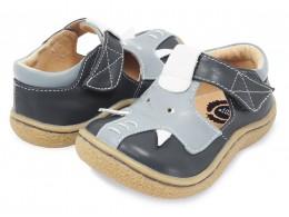 Pantofi băieți Elefant din piele naturală gri