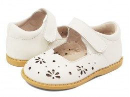 Pantofi fete Astrid din piele naturală albă