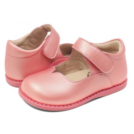 Pantofi fete Astrid din piele naturală roz guava