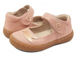 Pantofi fete Pio Pio din piele naturală roz cu sclipici