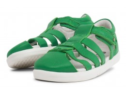 Sandala copii Tidal din piele naturală verde smarald