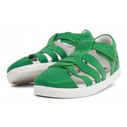 Sandale copii Tidal din piele naturală verde smarald