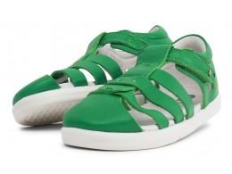 Sandale copii Tidal Kid din piele naturală verde smarald
