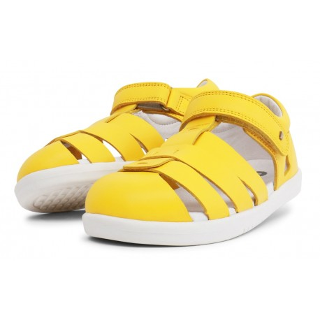 Sandale copii Tidal Kid din piele naturală galbenă