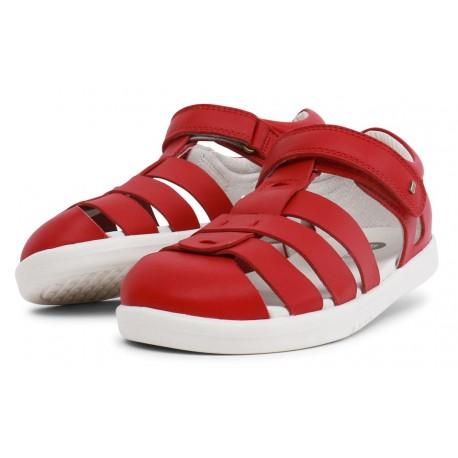 Sandale copii Tidal din piele naturală roșie