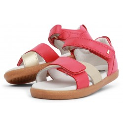 Sandale fete Sail din piele naturală roz