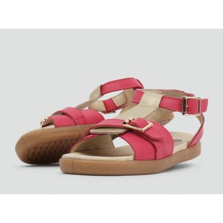 Sandale fete Hera din piele naturală roz