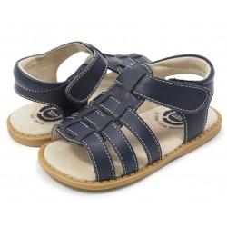 Sandale băieți Finn din piele naturală bleumarin