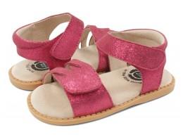 Sandale fete Athena din piele naturală roz magenta